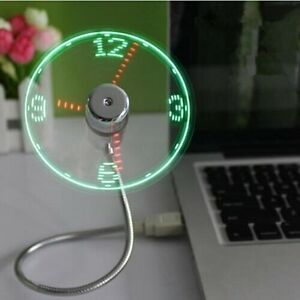 Mini-USB-Powered-LED-Cooling-Flashing-Real-Time-Display-Function-Clock-Fan-lot