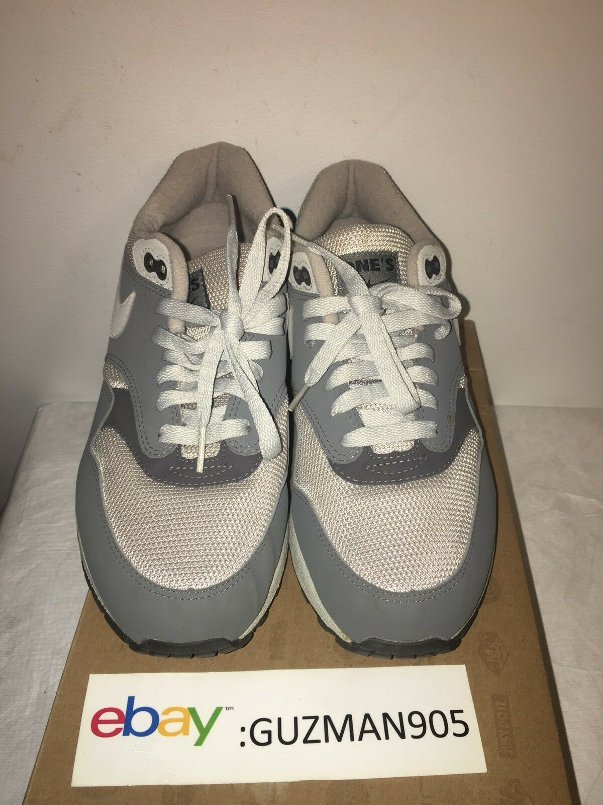 2018 Nike Air Max 1 'Book of Ones' Grey Ones Comfortable Wild casual shoes