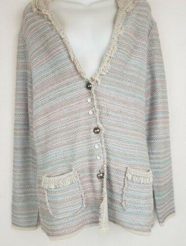 Antonio Melani Blazer Jacket Size L Freyed Collar