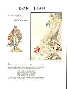 Publicite-ancienn-Don-Juan-Andre-Maurois-Carlos-S-de-Tejada-1938-issue-magazine