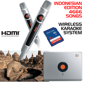 MIIC-STAR-MS-62-INDONESIAN-KARAOKE-SYSTEM-WIRELESS-MICS-WITH-4666-SONGS