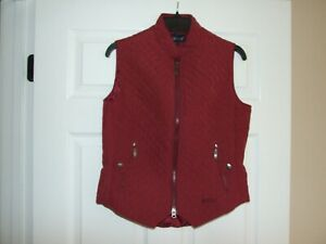 EOUS-Windsor-Equestrian-Riding-Vest-Size-Medium-for-Woman-Dark-Red