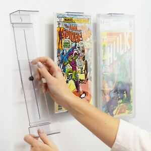 Comicmount-invisible-Comic-Book-DISPLAY-SHELF-STAND-et-support-mural