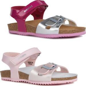 Details zu GEOX Mädchen Sandale J New Sandal ALOHA Lederfussbett Fuxia oder Pink Gr.24 35