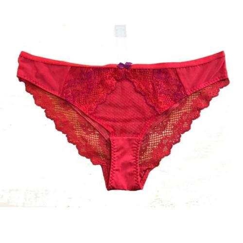 Ex M/&S Red Lace Knickers Briefs Panties