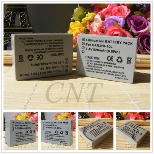 NB-10L Batería Cargador USB Doble//para Canon PowerShot G15 G16 Mark SX50 SX60 HS II