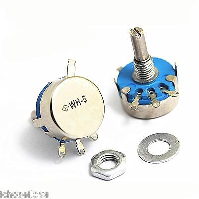 WH5-1A 4mm Shaft 3 Terminal Linear Taper Rotary Potentiometer Pot 2.2M ohm 10PCS