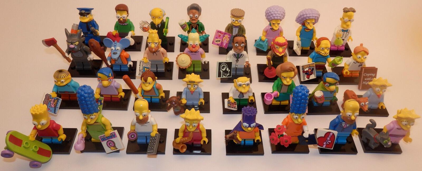 ComplèteHommes t jeux jeux jeux Lego Simpsons série 1 + 2 tous les 32 PERSONNAGES-NEUF neufs 71005+9 d7f195