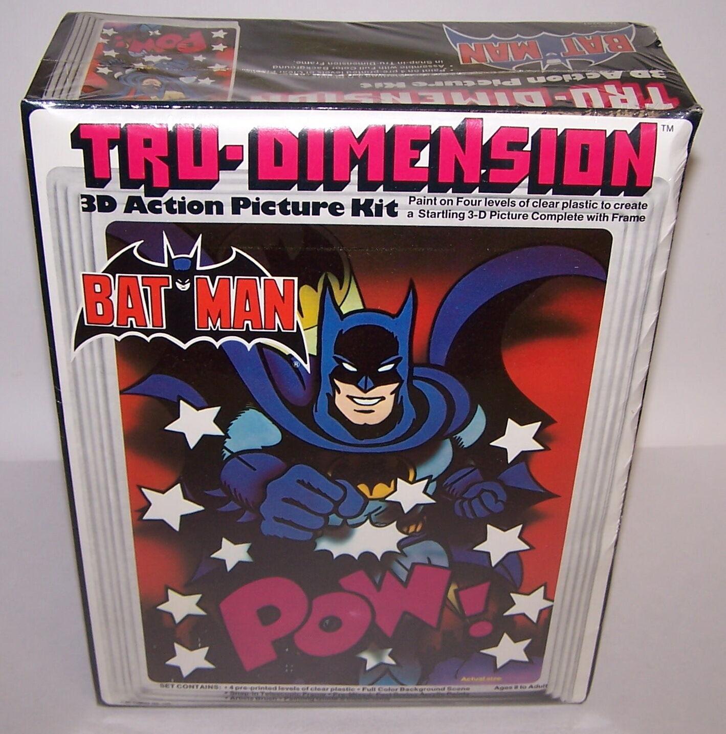 Tru-Dimension Batman 3-D Action Picture Kit Sealed NIB Vintage 1976 Sealed