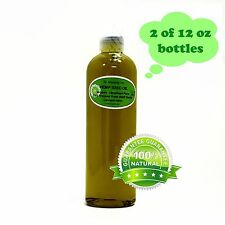 24 Oz Premium Pure Organic Cold Pressed Best Fresh Hemp Seed Oil Multi Purpose