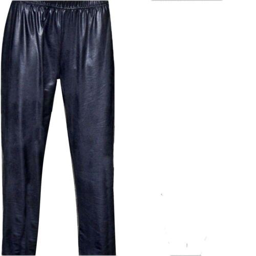 56//58 Donna Pantaloni in Pelle-LookMagna PANTALONI PER DONNA-pantaloni slittamento 48//50 52//54