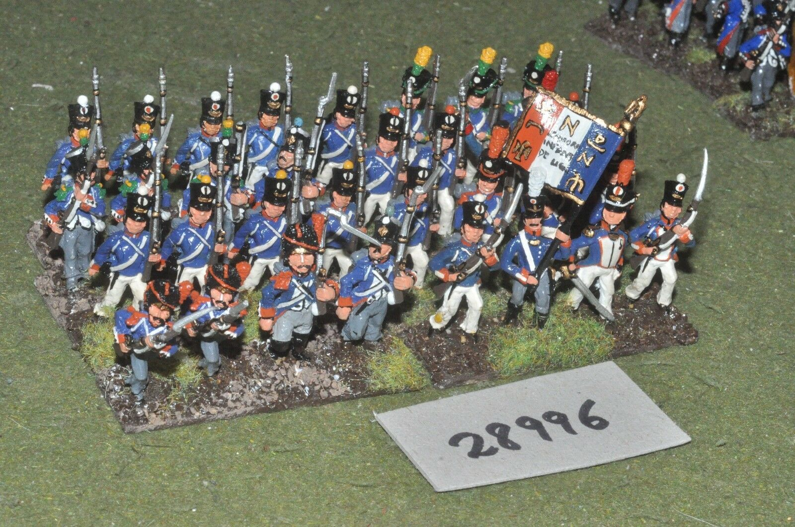 25mm napoleonic   french - line 32 figures - inf (28996)