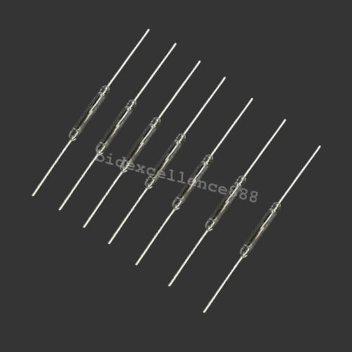 100pcs//Bag 10W Reed Switch Glass NO Low Voltage Current 14mm Normal Open