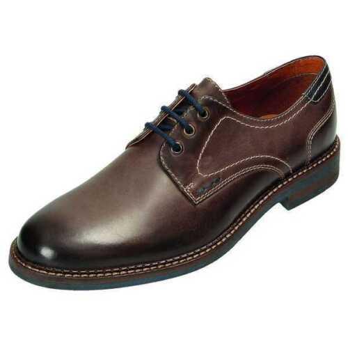 Klondike Halbschuhe Business Leder Schuhe MS-236R13 schlamm 40-46 Neu32