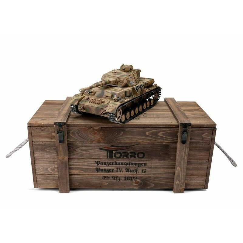 1 16 Torro German Panzer IV RC Tank 2.4GHz Infrarojo Metal Edition PRO