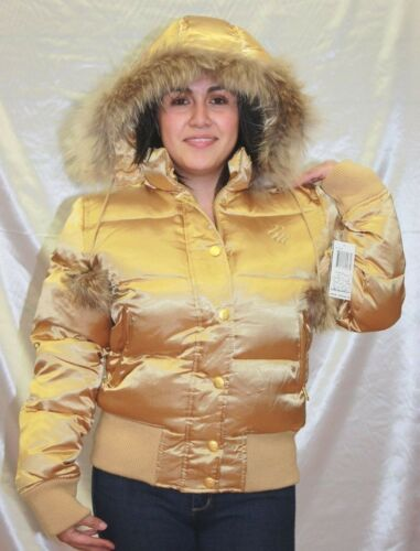 Fur Polyester 100 Jacket Jr Shiny Kvinders Rocawear Gold xqwS4aXY