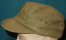 Original WWII U.S. Army HBT Short Visor Field Cap - size 7 1/8