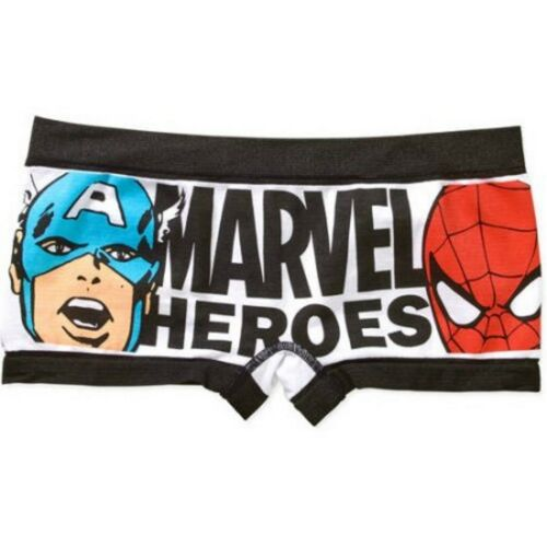Marvel Heroes AVENGERS Womens Seamless Boyshort Super Hero Panty Underwear