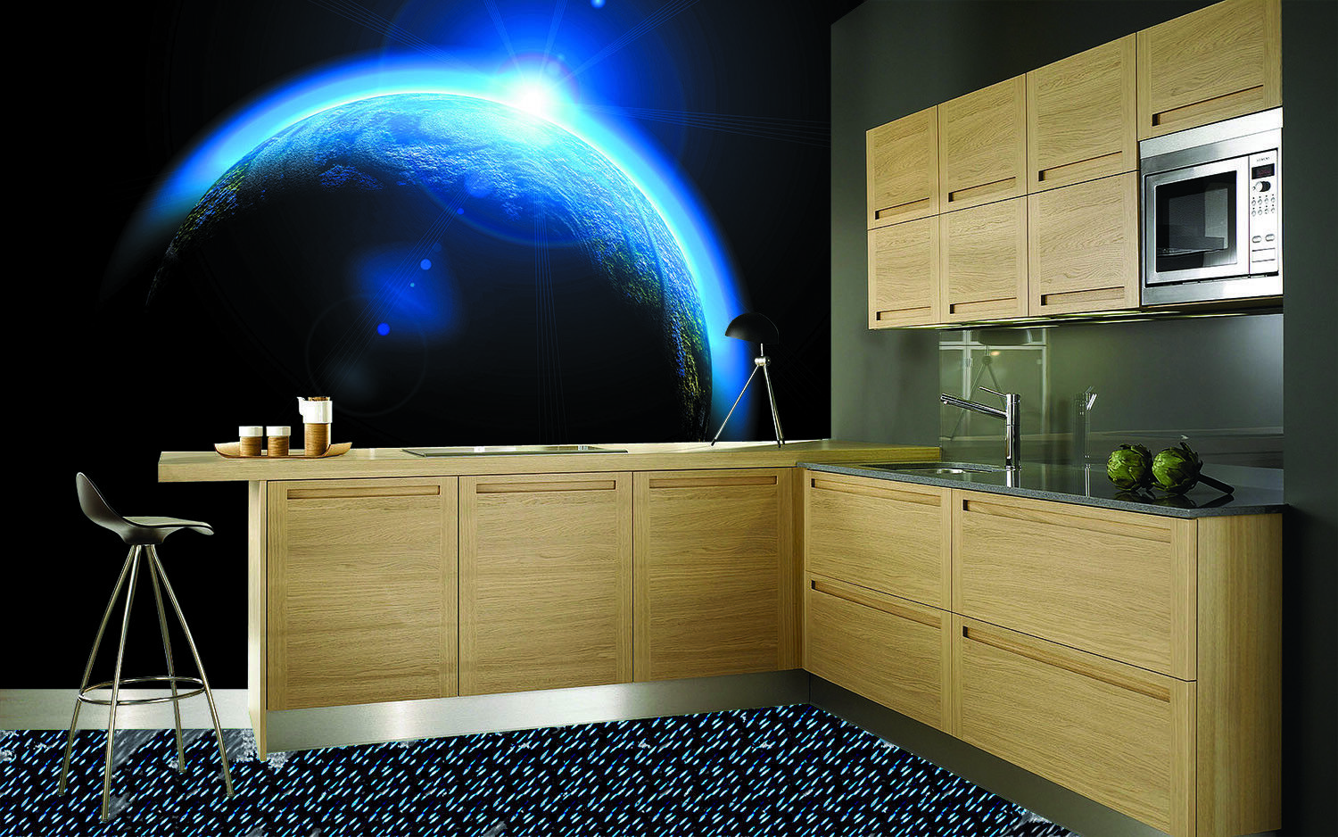 3D Blau Light Earth 99 Wall Paper Murals Wall Print Wall Wallpaper Mural AU Kyra