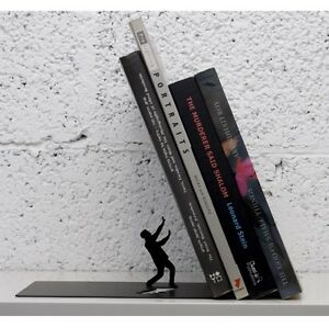 Good Image Is Loading Fred BOOKEND The END Falling Books Black Designer