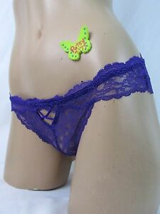 db77fdc9080 MEDIUM Victoria s Secret Sexy Purplt Lace Peek a Boo Cheekini ...