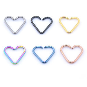 Daith-Heart-Shaped-Rook-DAITH-Ring-Hoop-Titanium-ANODIZED-Choose-Your-Colour