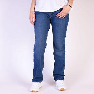 Levi-039-s-525-Perfect-Waist-Straight-leg-Damen-blau-Jeans-31-32