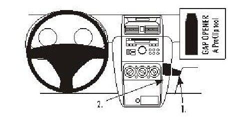 Brodit ProClip 853884 montaje consola para suzuki sx4 año de fabricación 2007-2015