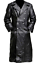 GERMAN-CLASSIC-WW2-MILITARY-OFFICER-UNIFORM-BLACK-LEATHER-TRENCH-COAT-BIG-SALE thumbnail 1