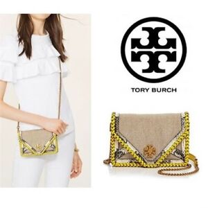c255018a336 Image is loading TORY-BURCH-Kira-Braided-Canvas-Mini-Cross-Body-