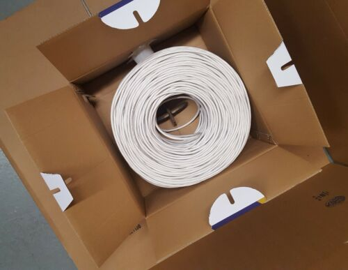 Plenum Copper CMP UTP 4-Pairs Cat5e 350Mhz Cat6 550Mhz 1000ft Cable Blue White