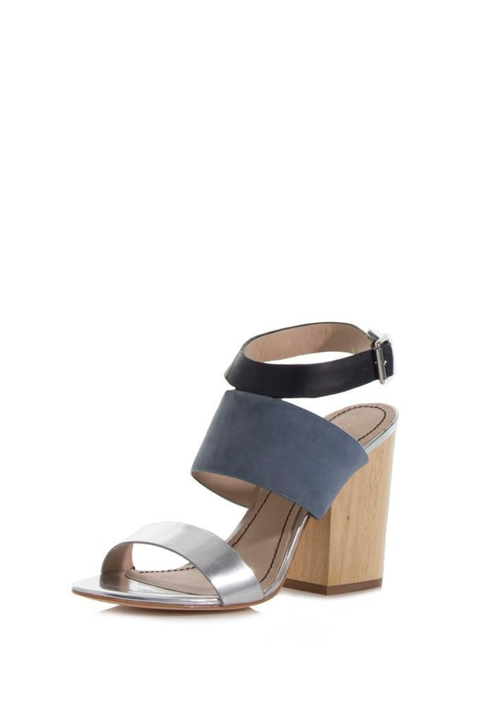 Elizabeth and James Women's Women's James New Clair 2 Heel Blue Multi silver black Sandals a4f229