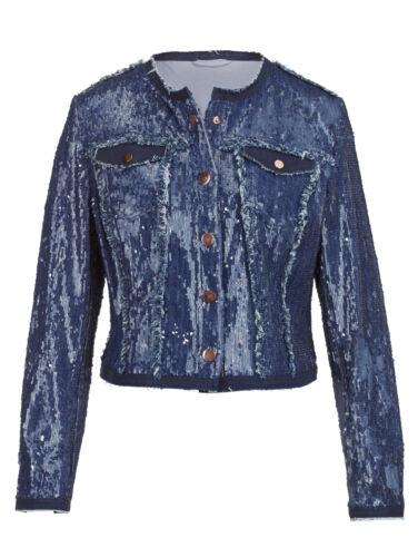 1017244889 Blue 40 38 Gr Jacket Sequin Denim Marchi q80ty