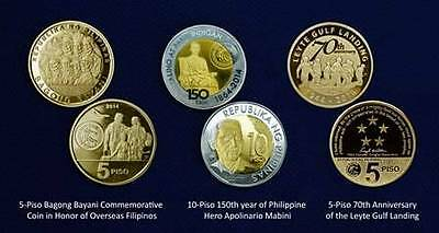 2015 Leyte Gulf Landing 5 PISO COMMEMORATIVE COIN PHILIPPINES carded Mc Arthur