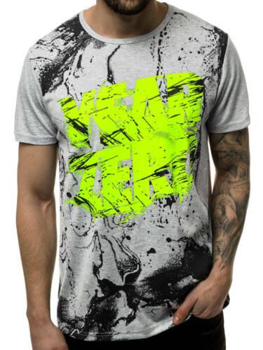 T-Shirt Kurzarm Shirt Mit Motiv Rundhals Mit Aufdruck Herren OZONEE JS//KS1984