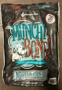 6 Bags of Member's Mark Munchy Bones Dog Treats for Adult Dogs (180 Chews Total)