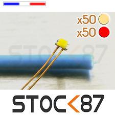 C144BCR/100# LED 0402 CMS pré-câblées 50 x Blanc chaud + 50 x rouge