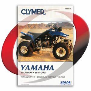 1987 2004 yamaha yfm350x warrior repair manual clymer m487 5 service rh ebay com Warrior 350 Performance Parts HP Officejet Printer Manuals