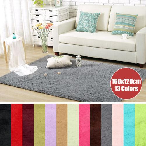 "63x47/"" Fluffy Shaggy Area Rugs Floor Mat Soft Non-slip Carpet Home Decor"