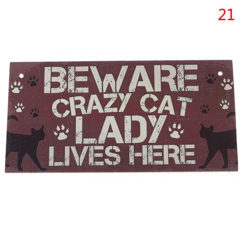 Wooden Hanging Wall Plaques Famille Porte Signes d/'amitié Signe Cat loveraluk