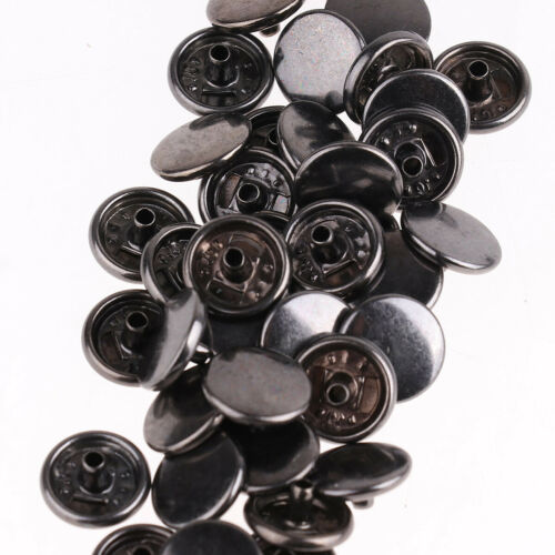 200 Metal Snap Fasteners Press Stud Round Sewing Rivet Button Leather Craft 10mm
