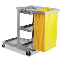 Boardwalk Janitor's Cart, Three-shelf, 22w X 44d X 38h, Gray - Bwkjcartgra on Sale