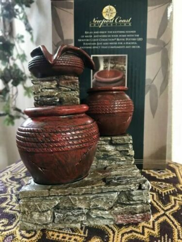 Small Rustic LED Pottery Fountain