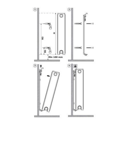 Wandkonsolen Heizkörper Heizung Halterung Konsole BH 50cm 500mm