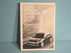 07 2007 ford fusion owners manual ebay rh ebay com 2007 ford fusion service manual 2007 ford fusion sel v6 owners manual