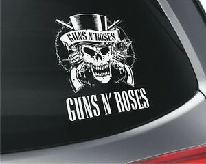 Guns-N-039-Roses-x2-Vinyl-Stickers-Printed-Car-Window-Wall-Tool-Box-Hard-Rock