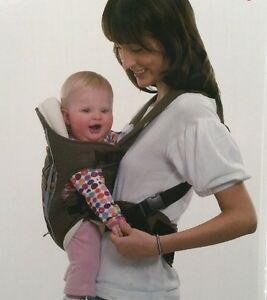 "Baby / Infant Front Back Carrier with Rain/cold Cover ""Happy Go Baby"" Black New"