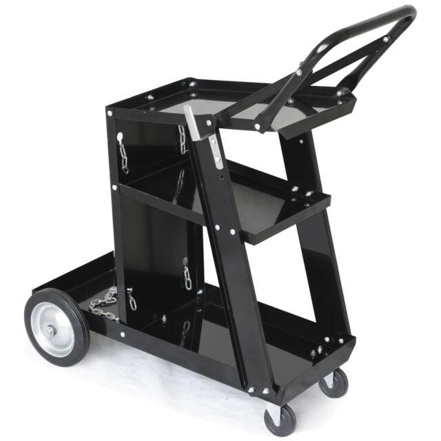 Welding Welder Cart Plasma Cutter MIG TIG ARC Universal Storage for Tanks Handle