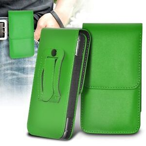 Vertical-Belt-Clip-Quality-Pouch-Holster-Top-Flip-Case-Holder-Green