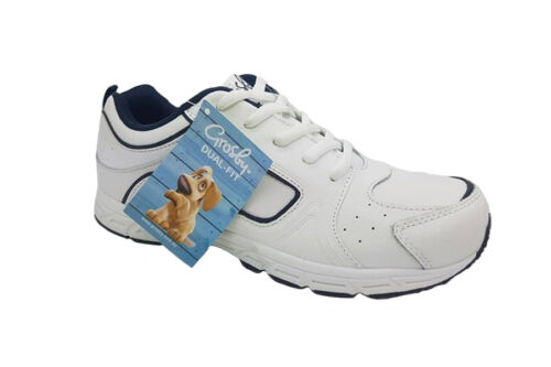 Childrens Shoes Grosby Hype White Lace Up Shoe Runners Size 12-5 Sneakers